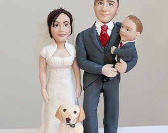 personalised wedding cake topper to order