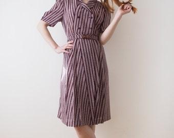 Wine Japanese vintage dress, small - medium