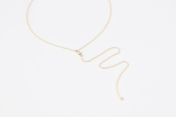 Long Layering Necklace - Lariat Necklace - 14k Gold Filled or Sterling Silver - Oona