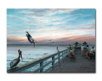 11×8 in. Florida Naples Beach - Art Work Print on Wood, Gallery Wrap Canvas, Art on Acrylic, Custom Photo Prints, Wall Decors pa016