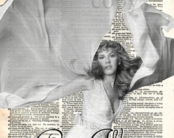 Stevie Nicks Gypsy Woman Vintage Dictionary Art Print