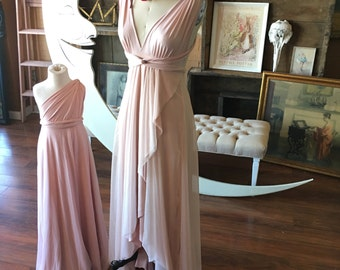 Whimsical Tulle Tulip Petal Cut Infinity Wrap Dress~ Custom Choose Fabrics~ All Sizes