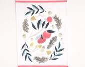 Apple Tea Towel, Cotton/Linen Tea Towel