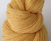 Buttercup yellow, 100 yards,  Pure cashmere sport weight yarn, up-cycled cashmere sweater