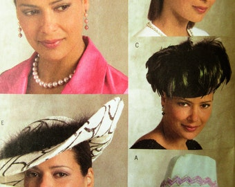 Butterick 4755 Sewing Pattern, Hat Pattern, Wide Brimmed Hat Pattern, 2006 Sewing Pattern, Pillbox Hat Pattern, 2006 Hat Pattern, One Size