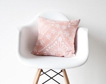 Peach Pillow Cover linen