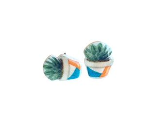 Succulent Earrings / Succulent jewelry / Botanical jewelry / Succulent plant jewelry / Cactus studs