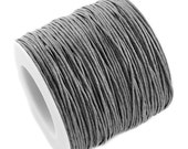 Waxed Cord : 10 yards (30 feet) Dark Gray 1mm Waxed Cord String / Bracelet Cord / Macrame Cord / Chinese Knotting Shamballa 319/1.0