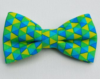 Boy's Blue and Green Bow Tie