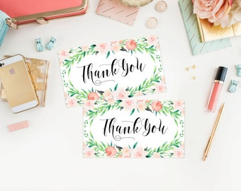 Instant Download - Delicate Bouquet Thank You Tags