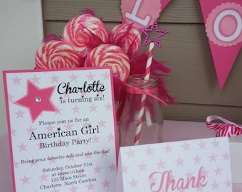 American Girl Inspired Thank You Notes Stationery
