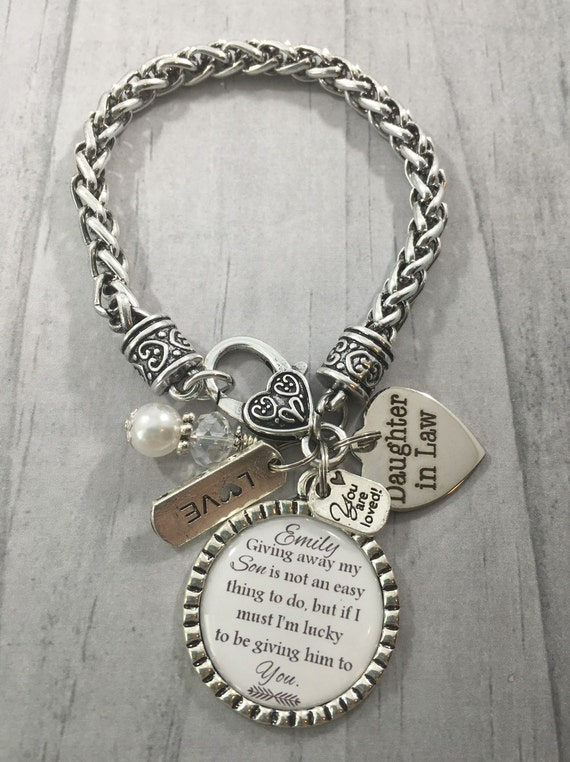 LAW Bracelet, Future Daughter in Law GIFT, Brides Gift, Bridal Shower ...