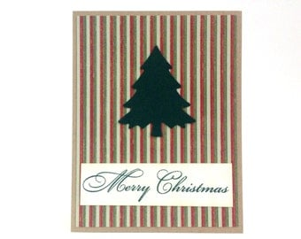 Unique Christmas Cards - Handmade Christmas Cards - Merry Christmas Cards - Christmas Cards Boxed Set - Christmas Tree Card - Holiday Card