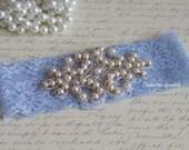 Lace Bridal Garter/Something Blue Garter / Blue Lace/Single garter/light blue