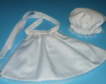 Colonial Mop Cap and Apron - fits American Girl Doll Felicity
