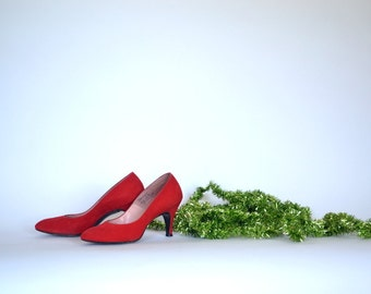 50's party pumps heels / paris fashion  / mid century fashion / holiday wear