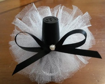 10 Tutus 13.50 and FREE SHIPPING /White glitter tulle & black/ With beautiful Rhinestone/ Weddings/ Sweet 16/ Engagement/ Any occasion