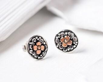 Small Stud Earrings, Stud Earrings Sterling Silver, Stud Earrings Rose Gold,Stud Earrings Vintage, Silver Post Earrings, Christmas Gift Idea