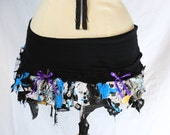 Blue Chaos Thrash Mini Skirt- Small