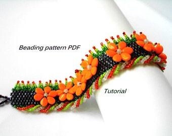 bracelet Summer. Beading Tutorial. Beading pattern PDF. Instant download.