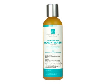 Luxurious Body Wash - 4 oz. Gentle Castile Cleanser with Lime and Juniper, certified cruelty-free by Leaping Bunny