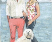 Mini Custom Couples Portrait Painting- great Wedding/ Anniversary gift!