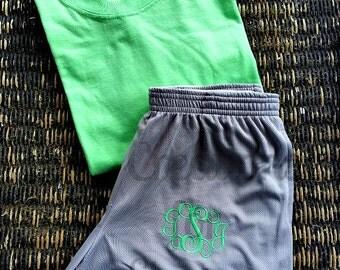Girls Monogrammed Shorts, Monogrammed Exercise Shorts, Monogrammed Dance Shorts, Monogrammed Cheer Shorts, Monogrammed Running Shorts