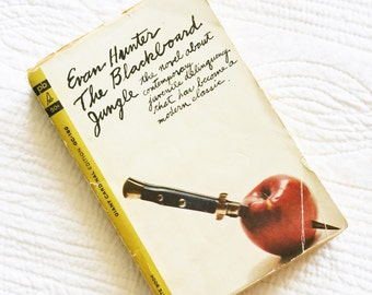 """Vintage """"The Blackboard Jungle"""" by Evan Hunter, 1963 Publication, Olives and Doves"""