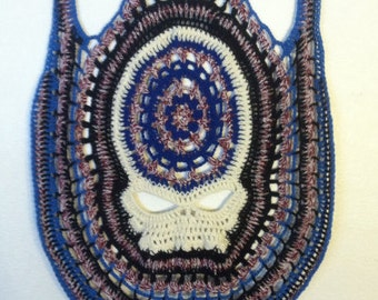 Grateful Dead Vest, Custom Crochet Steal Your Face Festival Clothing