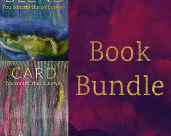 BLEND and CARD Spinning Books Bundle - Blending Board (Rolag) Tutorial + Drum Carding (Art Batt and Smooth Batt) Tutorial