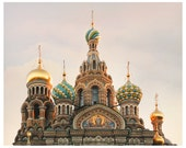 Russian Church Domes, architectural print, St Petersburg architecture art photography, large wall art, 11x14, 20x24, 24x30 oversized poster