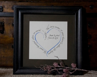 Wedding Gift - Custom Calligraphy - Rumi quote - Personalized Gift - Wall Art