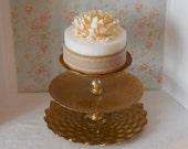 3 tier Cake Stand / Gold cake stand / Cupcake stand / Dessert Tower /  Gold Wedding / Baby shower / Birthday cake