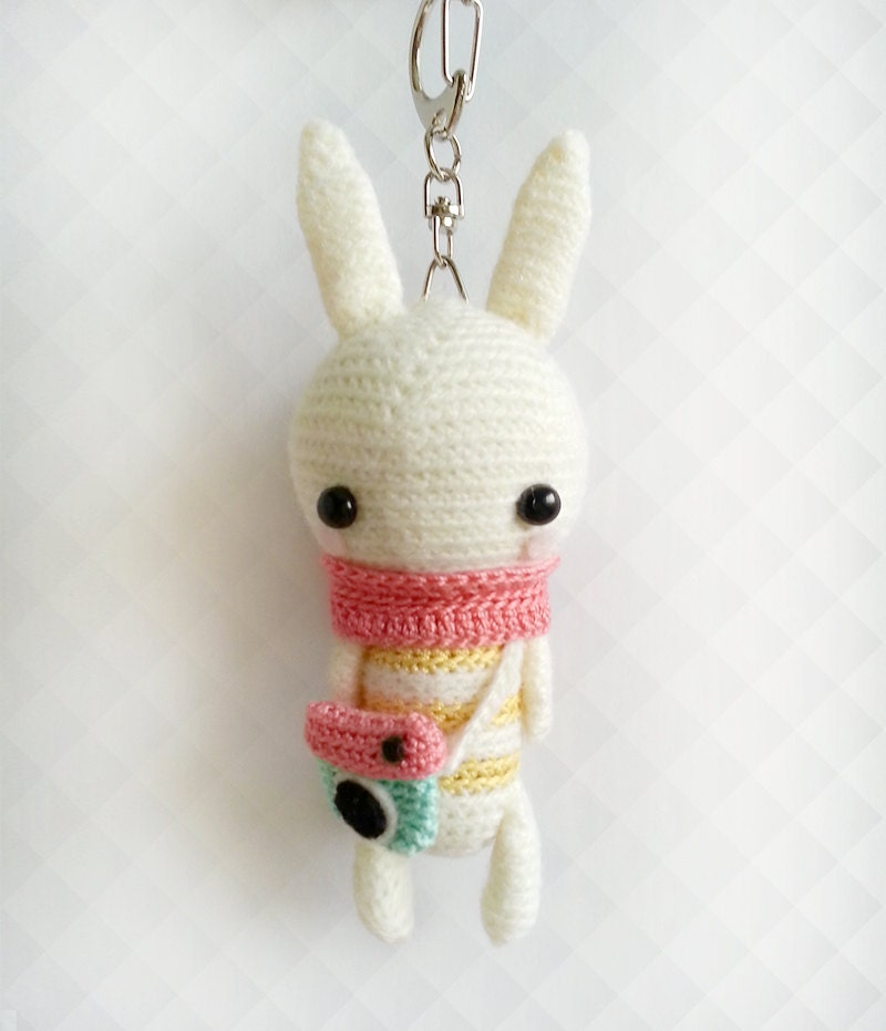 Amigurumi Bunny Keychain : Crochet Bunny Instagram Keychain Crochet Keychain Amigurumi