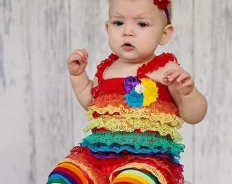Rainbow headband, colorful bright birthday bow, baby and girls