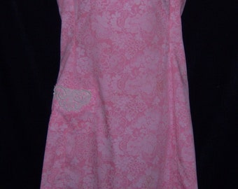 Vintage Lilly Pulitzer The Lilly Pink White Floral Flower Print Classic Shift Dress 10 12