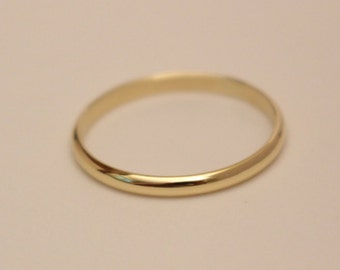 14k rose gold half round ring, 14k yellow gold half round ring, 14k wedding ring, 14k wedding band, 14k gold ring, 14k half round ring