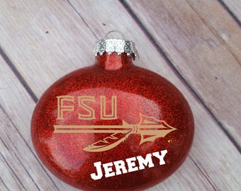 Personalized Ornament, FSU Ornament, FSU, Florida State Seminoles,Christmas, Gifts For Him, Gifts For Her