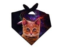 Cool Cat Visionary Art Bandana   EDM Rave Wear Headband/Facemask   Festival Art Fashion Yoga Fitness Band   Buy 4 Get 1 FREE