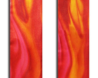 Clergy Stole, Red Clergy Stole, Ordination Clergy Stole, Pentecost Flame Clergy Stole, Custom Embroidery on lining
