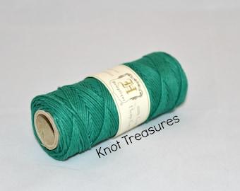 Forest Green Hemp Twine, High Quality Hemp Jewelry Cord, 1mm - 205ft
