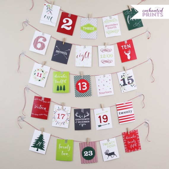 Calendar Cards Printables : Printable advent calendar card december