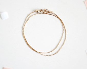 Gold Chain Wrap Bracelet - 14K Gold Filled Chain Bracelet - Simple, Modern, and Minimal Jewelry