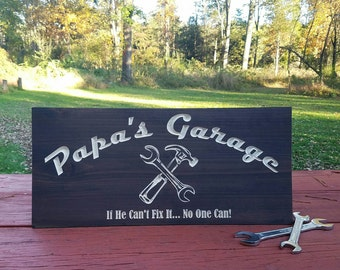 Garage Sign - Gifts for Him - Gifts for Dad - Gifts for Grandpa - Gifts for Husband - Custom Sign - Workshop Sign