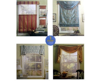 Window Treatments, Bottom Up Shade, Valance, Swag Sewing Pattern Uncut McCall's M0600
