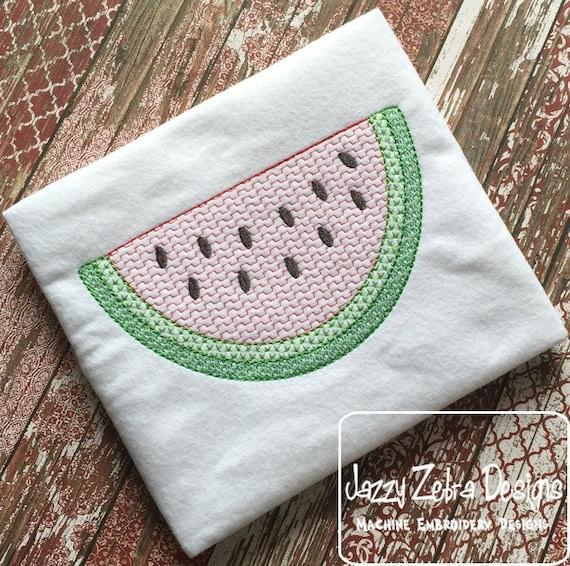 Watermelon Color Motif Fill Embroidery Design - watermelon Embroidery Design - fruit Embroidery Design