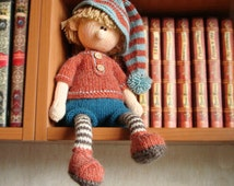 Doll Knitting Pattern - Martin the House Elf Knitting toy pattern  Knitted doll Knitting pattern doll  Knitted toy Knit pattern toy boy