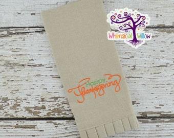 Happy Thanksgiving Fingertip Towel