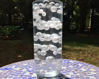Floating Pearls & Water Beads Combo - Vase Fillers for Weddings, Parties, Events - 70 Pearls - 5 g Water Beads - Stunning and Beautiful