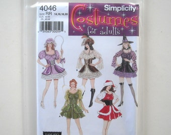 Simplicity 4046 Pattern, Women's Costumes